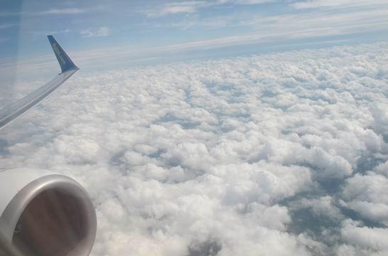 Облака, вид из самолёта