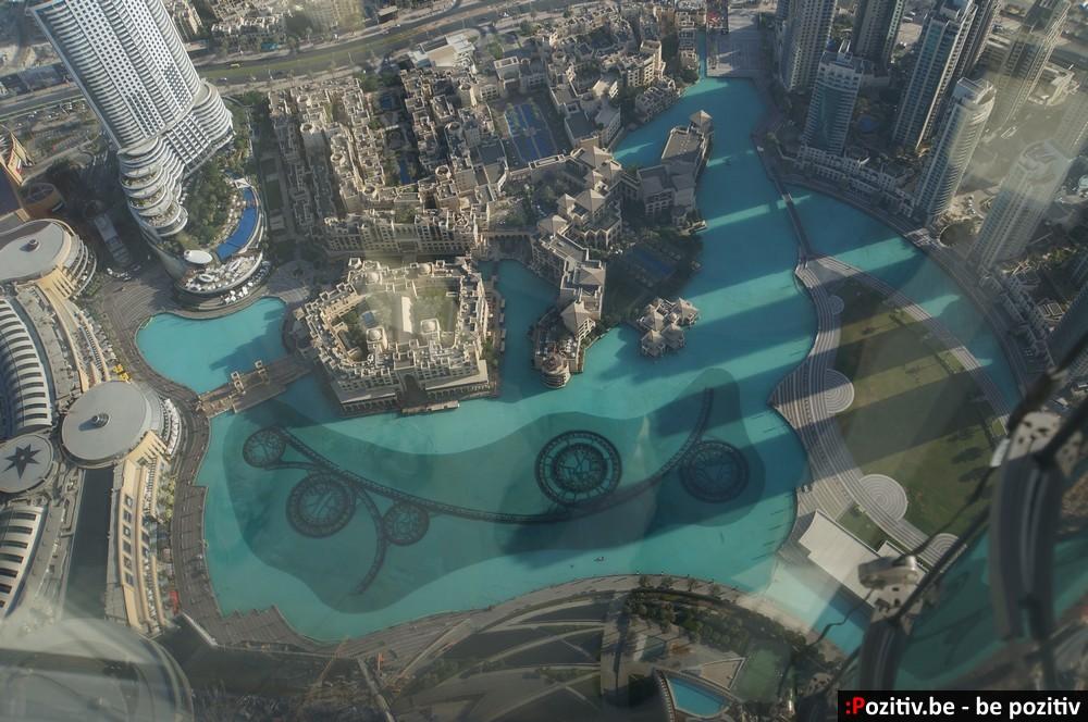 Вид на Фонтан Дубай с Бурдж-Халифы