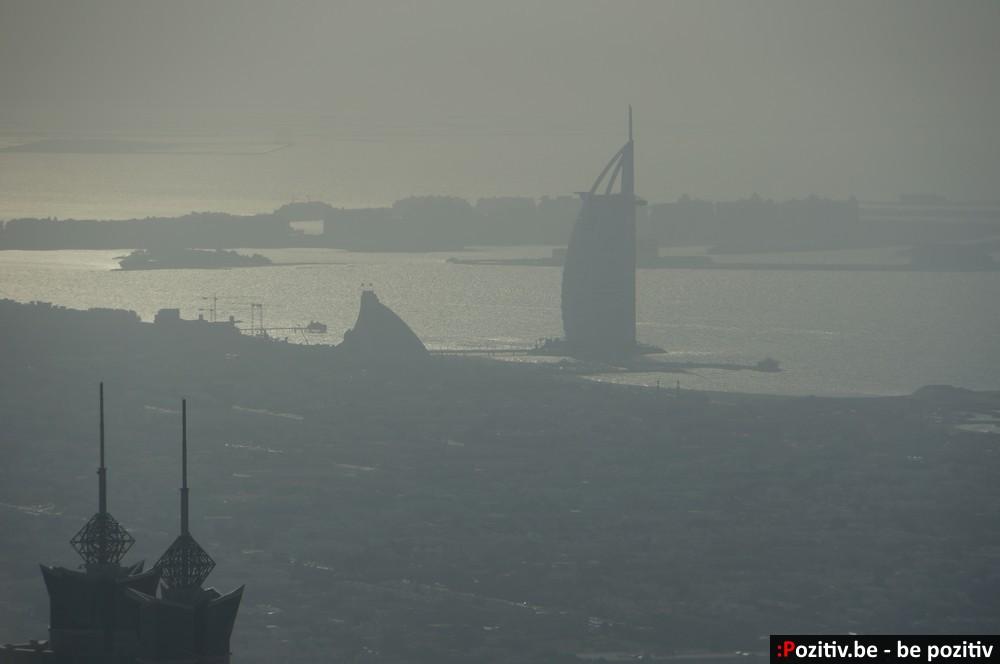 Вид Бурдж Аль Араб с Бурдж-Халифы