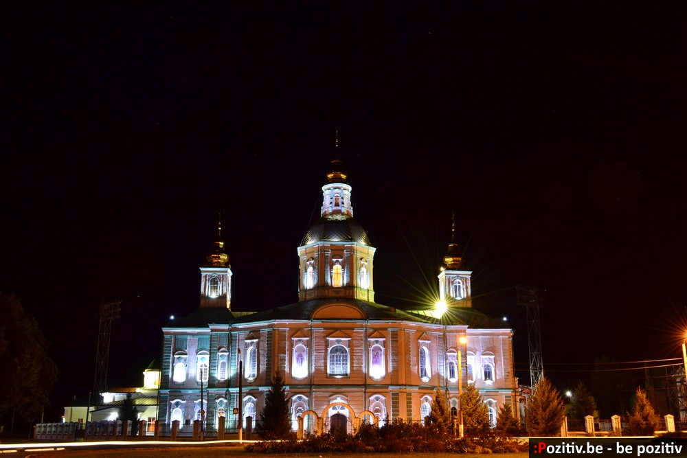 Ахтырский Покровский собор ночью