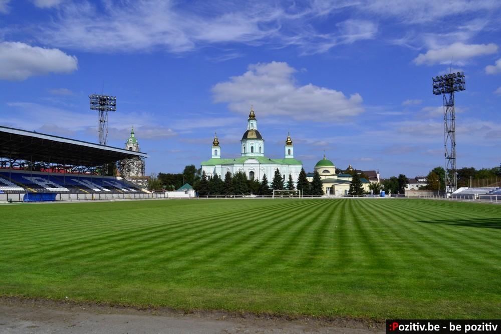 """Ахтырский стадион """"Нефтяник"""", Покровский собор"""
