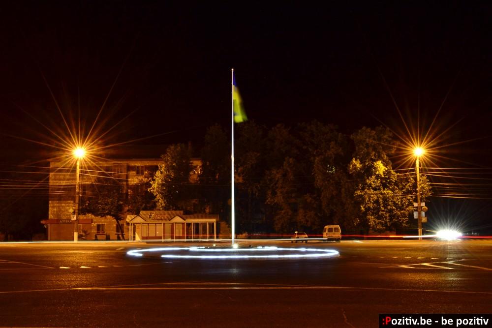 Ахтырка, площадь Ленина aka Успенская ночью