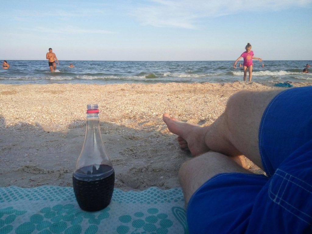Вино на пляже в Кирилловке