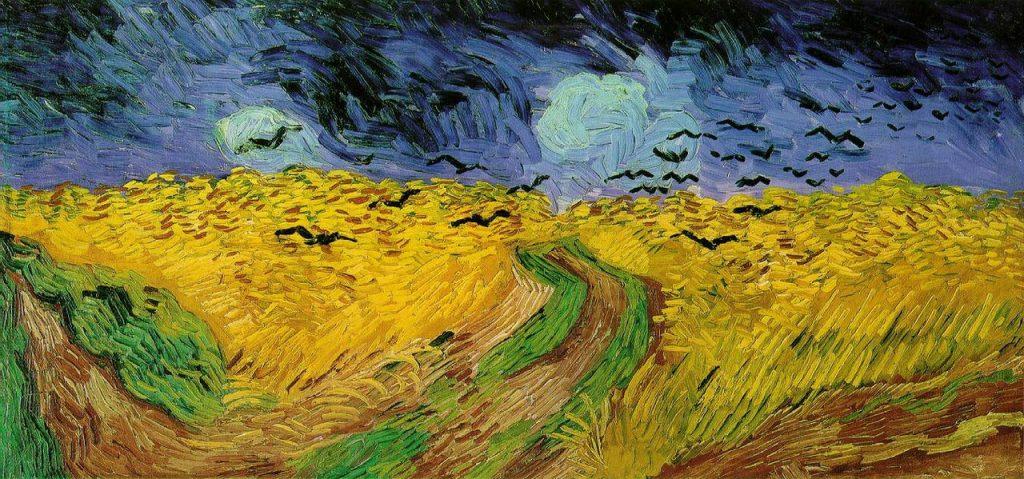 Пшеничное поле с воронами Ван Гога