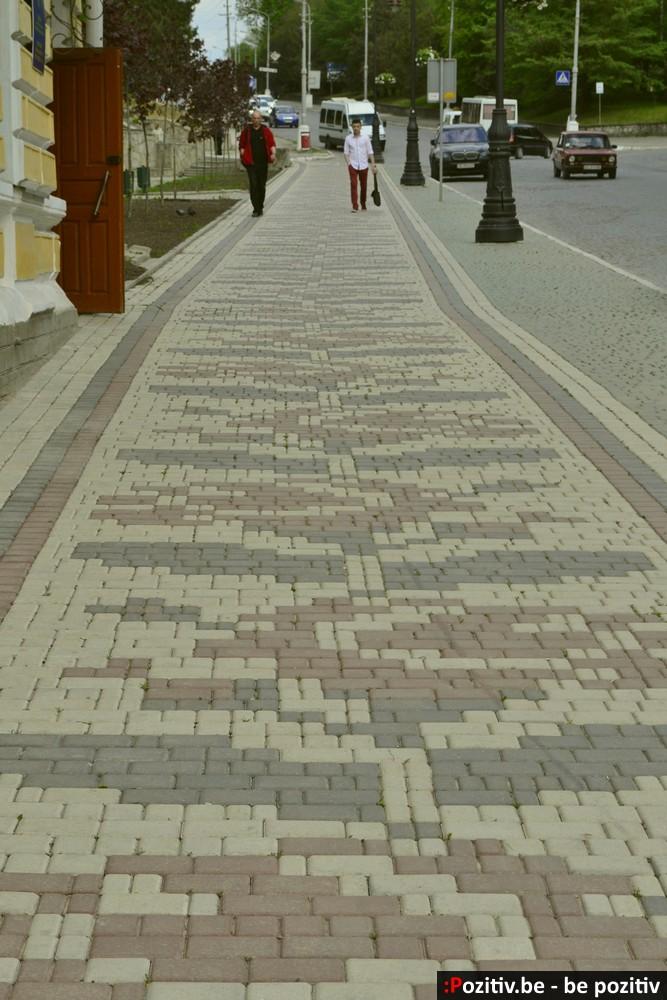 Каменец-Подольский орнамент на тротуаре