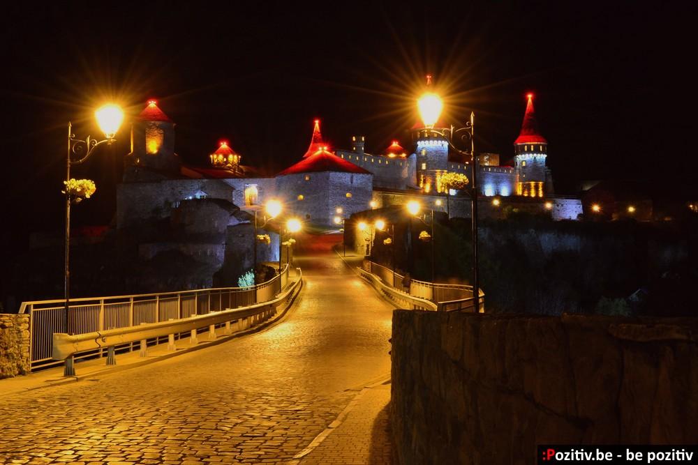 Каменец-Подольская крепость ночью