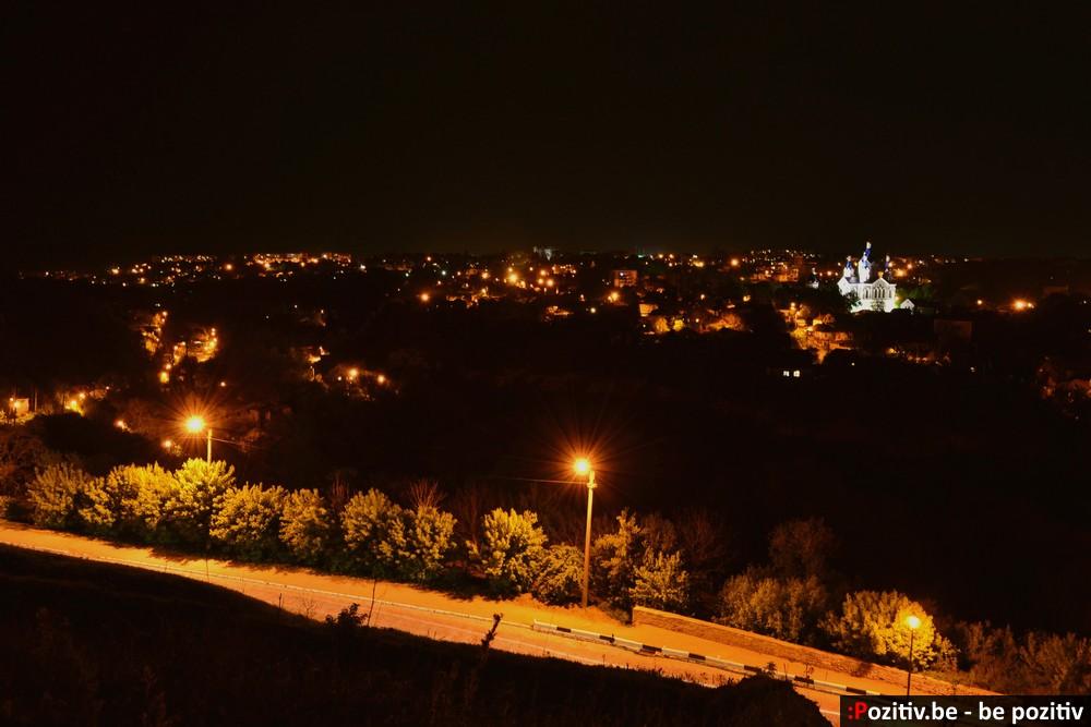 Ночной Каменец-Подольский, панорамный вид
