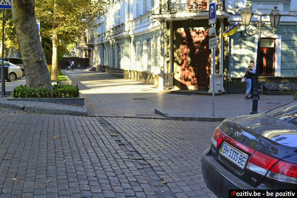Одесса, улица Пушкинская, парковка