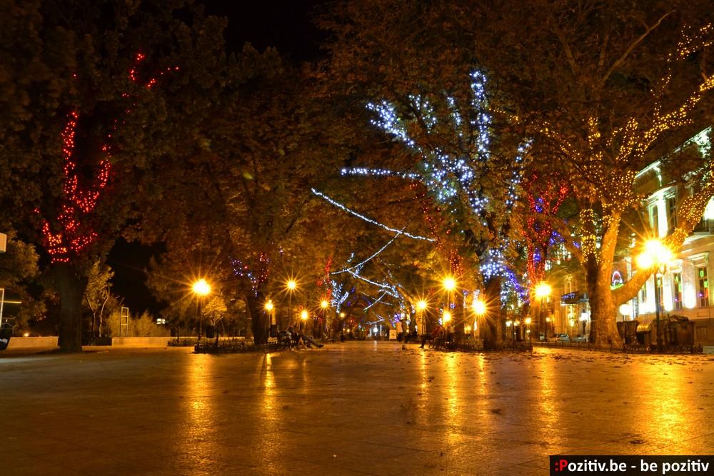 Приморский бульвар ночью