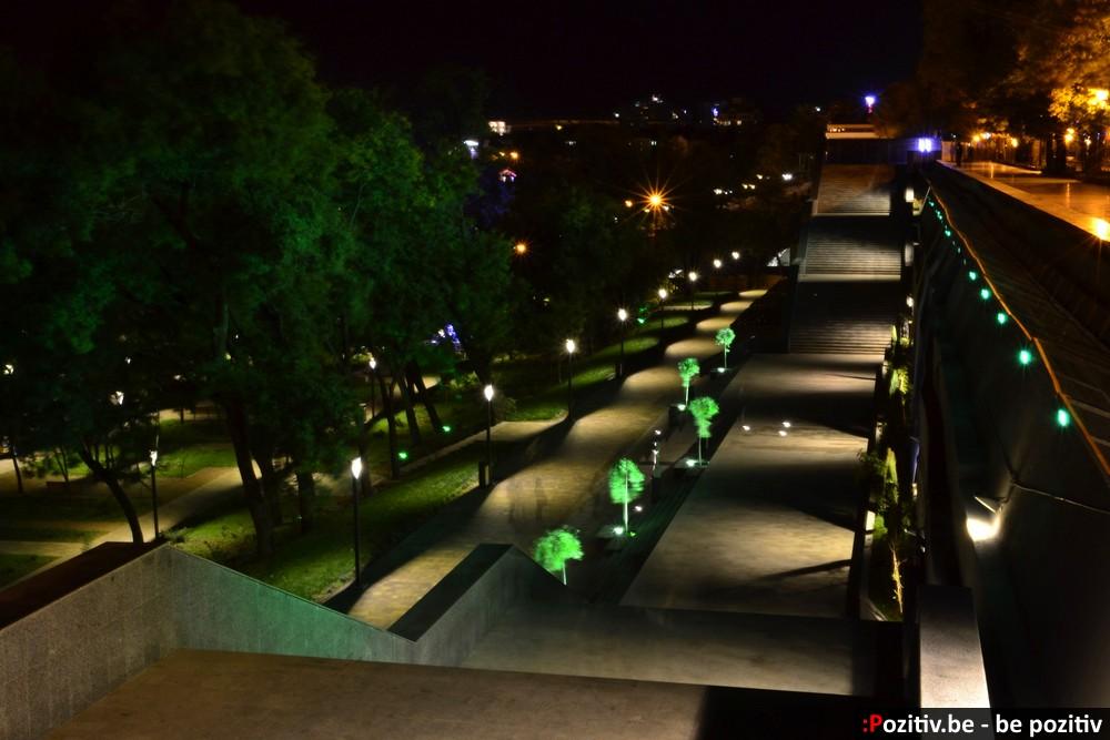 Одесский Греческий парк ночью