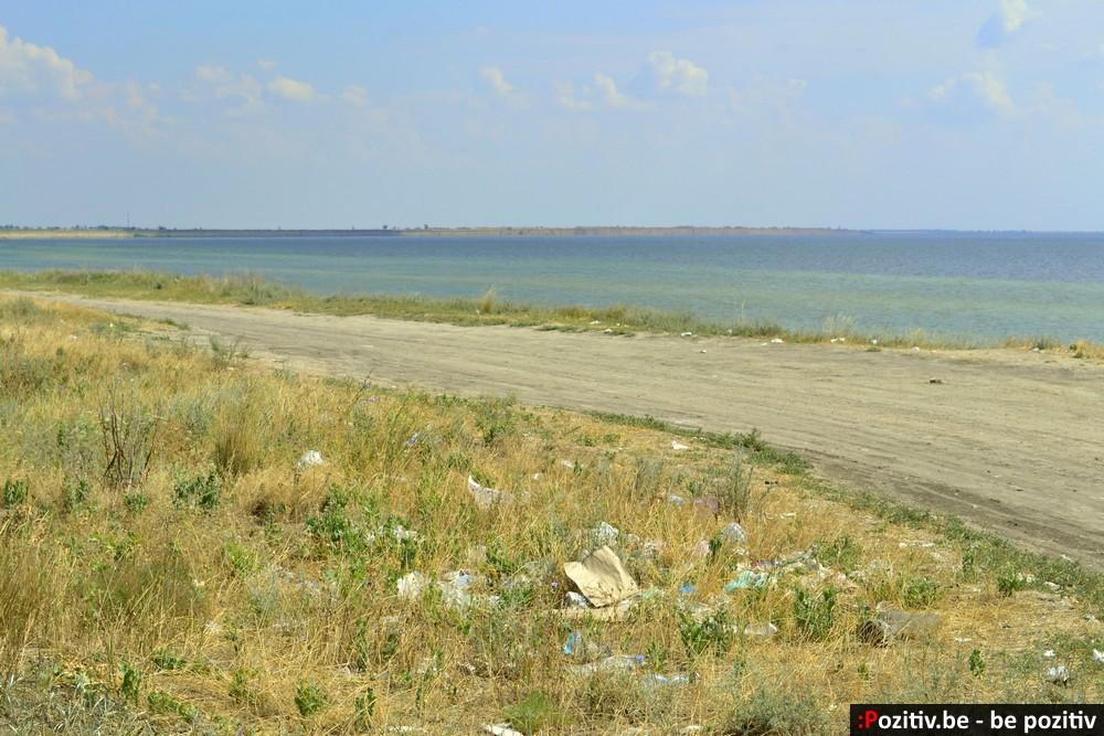 Геническ, море, побережье, мусор